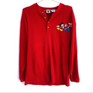 Vintage Disney Catalog Red Thermal Mickey Mouse